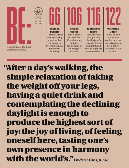 BE - The Journal often Built Environment Trust , Cover of BE Journal