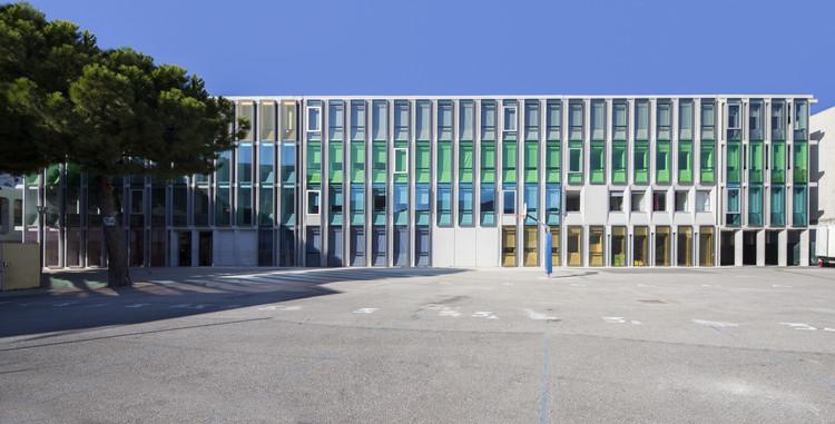 Simone Veil Middle School in Nice / Comte & Vollenweider, © Milène Servelle