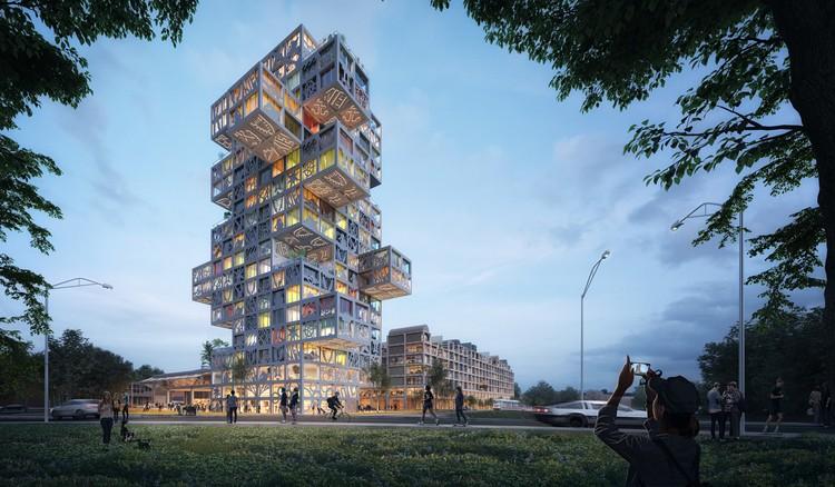 MVRDV's Design for 'KoolKiel' Tower Brings Distinctive Whimsy to an Adaptable Scheme, © MVRDV