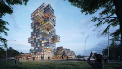 MVRDV's Design for 'KoolKiel' Tower Brings Distinctive Whimsy to an Adaptable Scheme