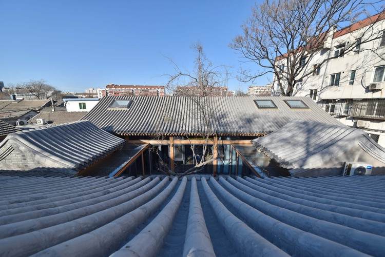 Xiaochaye Hutong / Beijing Qingzhu Architecture Design, Northern yard birdview. Image © Jun Liu