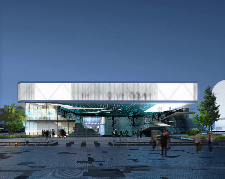 SuperSpatial Reinvents E-waste for the Korean Pavilion at Expo 2020, South Korean Pavilion. Image Courtesy of SuperSpatial