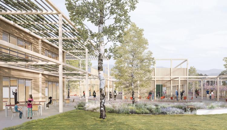 SET Architects projeta complexo educacional em região devastada por terremoto na Itália , Cortesia de SET Architects