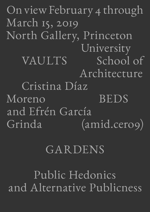 VAULTS BEDS GARDENS: Public Hedonics and Alternative Publicness