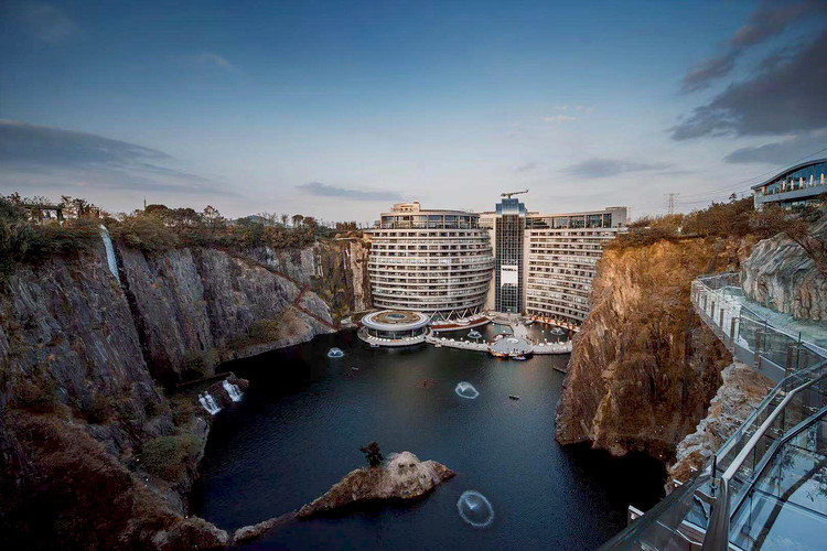 The World's First Quarry Hotel Opens in China, Designed by JADE + QA, © Blackstation & Kevin