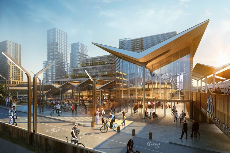 Chicago's $6 Billion Lincoln Yards Project Wins Planning Approval, Lincoln Yards. Image Courtesy of Sterling Bay