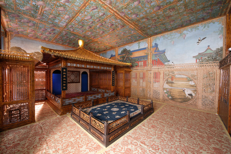 Juanqinzhai theater room after conservation. Image via World Monuments Fund