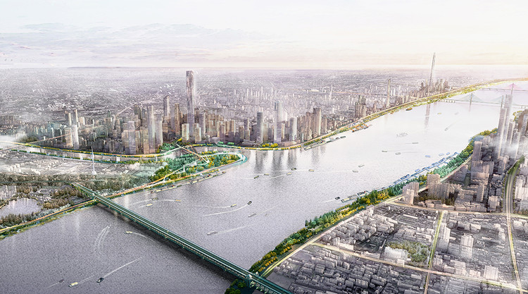 Sasaki Transform the Yangtze Waterfront with Flood-Friendly Masterplan, The Yangzte Riverfront is an integral part of Wuhan's open space network, and is designed to celebrate the river's spontaneity.. Image Courtesy of Sasaki