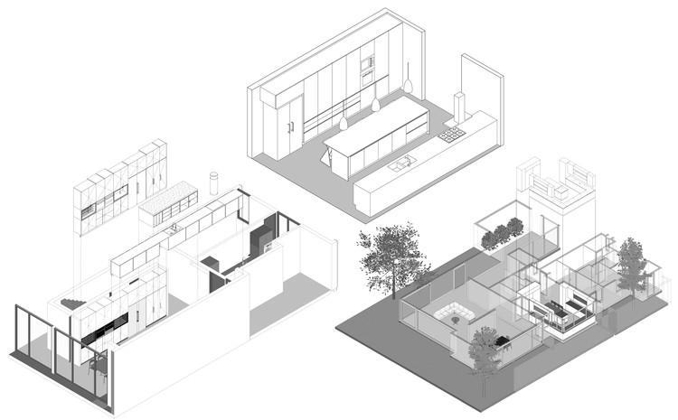 Detalhes de cozinhas de casas chilenas