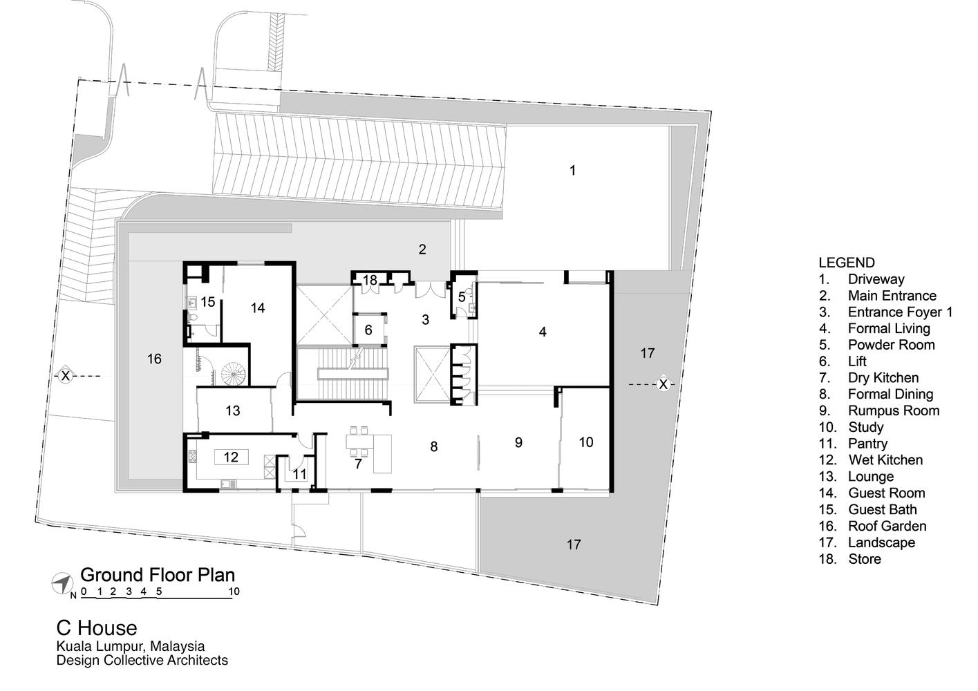 C house design collective architect ground floor plan