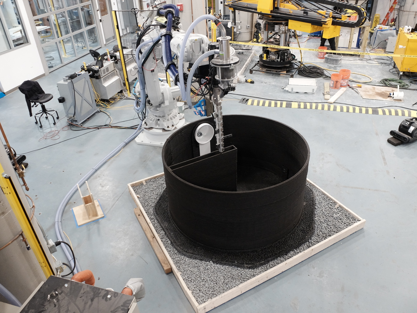 AI SpaceFactory Mars Habiat Prototype Robot