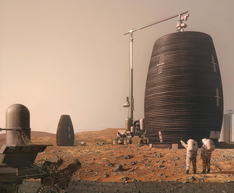 AI SpaceFactory Builds 3D Printed Mars Prototype for NASA, MARSHA. Image Courtesy of AI SpaceFactory