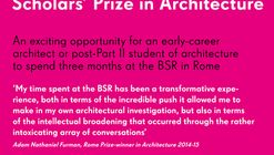 Scholars' Prize in Architecture 2019-20