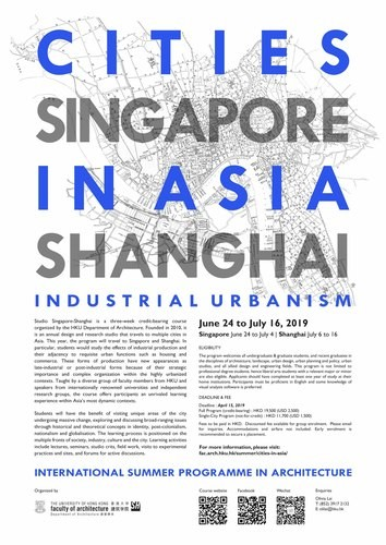 Cities in Asia Summer Program: Studio Singapore-Shanghai