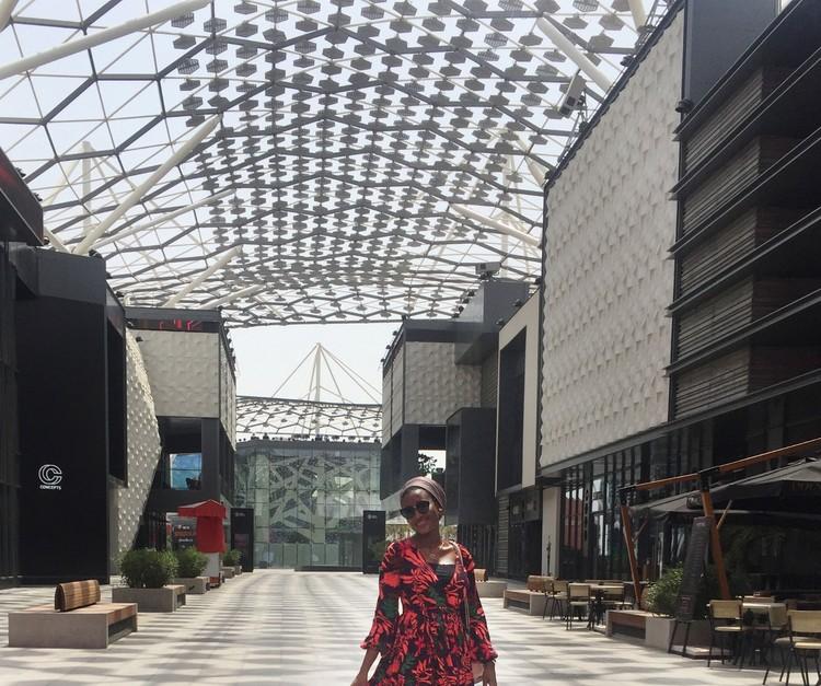 Architect Safiya Yahaya at one of Dubai's many malls. Image by Safiya Yahaya