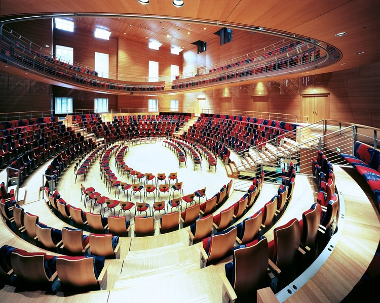 Efforts for Gehry-Led Wimbledon Concert Venue in Wimbledon Gain Ground Weeks after London Centre for Music Announcement, Gehry's Pierre Boulez Saal, completed in 2017.. Image © Volker Kreidler. © Volker Kreidler. Courtesy of Pierre Boulez Saal