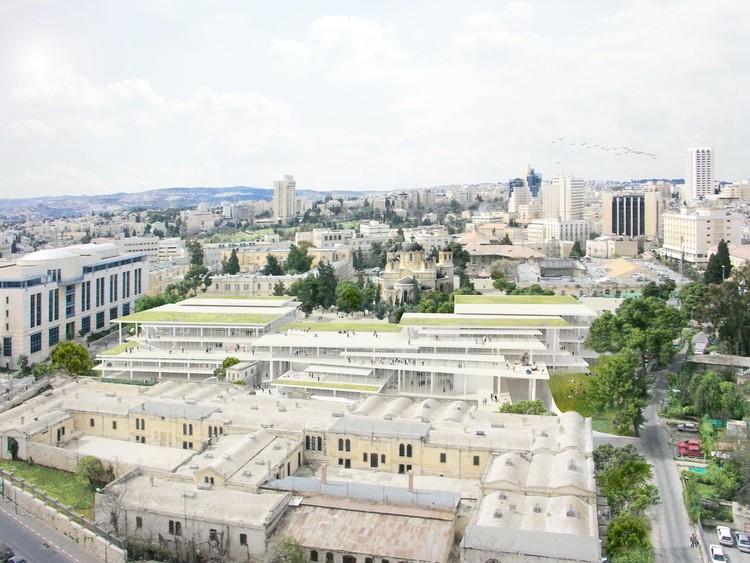Academia Bezalel de Artes e Design projetada pelo SANAA em Jerusalém tem inauguração prevista para 2022, Bezalel Academy of Art and Design. Image Cortesia de SANAA
