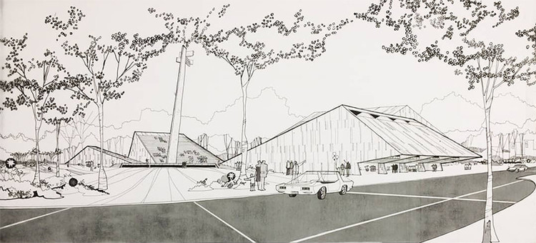 Casa da Arquitectura promove exposição sobre a obra do arquiteto brasileiro Fabio Penteado, Desenhos originais do Centro de Convivência Cultural. Image Cortesia de Arquivo Fabio Penteado