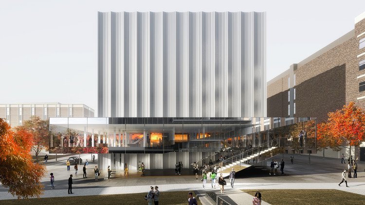 REX Reveals Brown Performing Arts Center Design, Brown University Performing Arts Center. Image Courtesy of LUXIGON