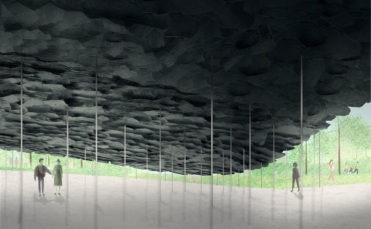 Serpentine Pavilion 2019 será projetado pelo arquiteto japonês Junya Ishigami,  Serpentine Pavilion 2019, Design Render, Interior View, © Junya Ishigami + Associates