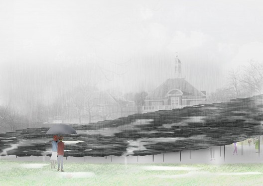 Serpentine Pavilion 2019, Design Render, Exterior View, © Junya Ishigami + Associates