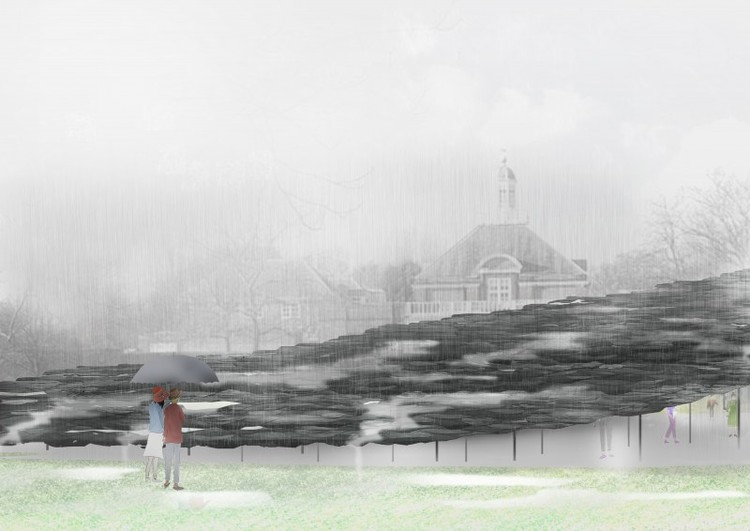 2019 Serpentine Pavilion to be Designed by Japanese Architect Junya Ishigami, Serpentine Pavilion 2019, Design Render, Exterior View, © Junya Ishigami + Associates