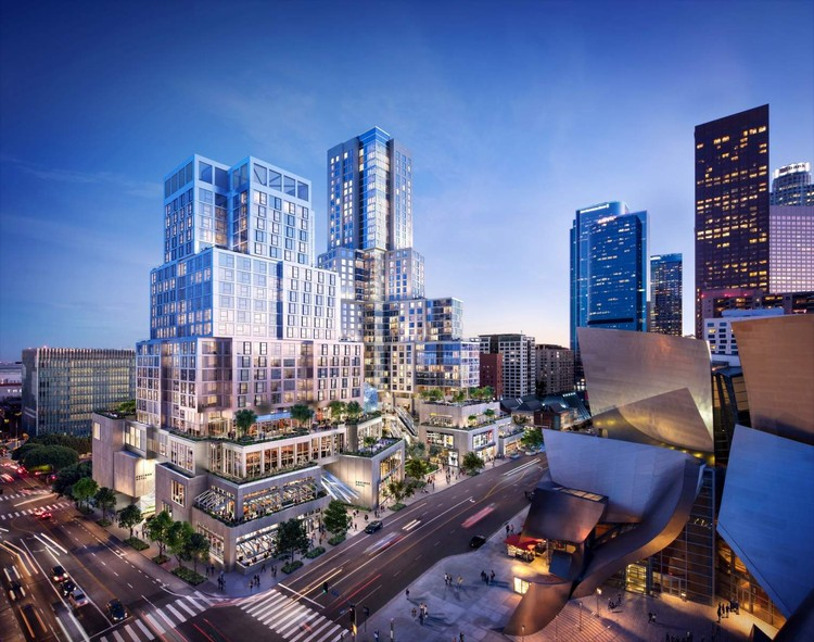 Gehry Celebrates Groundbreaking for The Grand in Los Angeles, The Grand. Image Courtesy of Related/CORE