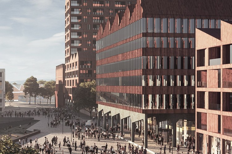 COBE Set to Transform Bremen's Harbor in Germany, Europahafenkopf. Image Courtesy of COBE Architects