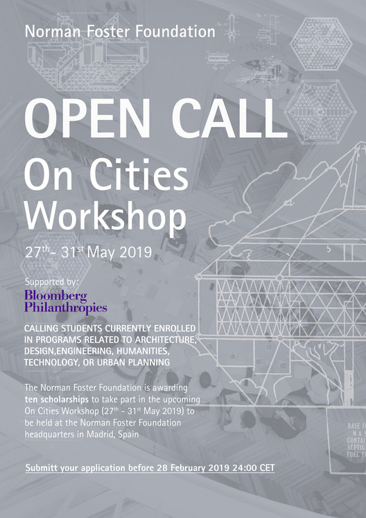Norman Foster Foundation abre convocatoria para 'On Cities Workshop'