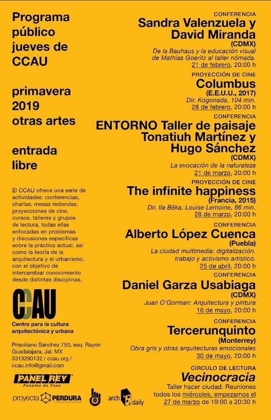 Programa público jueves del CCAU, ccau