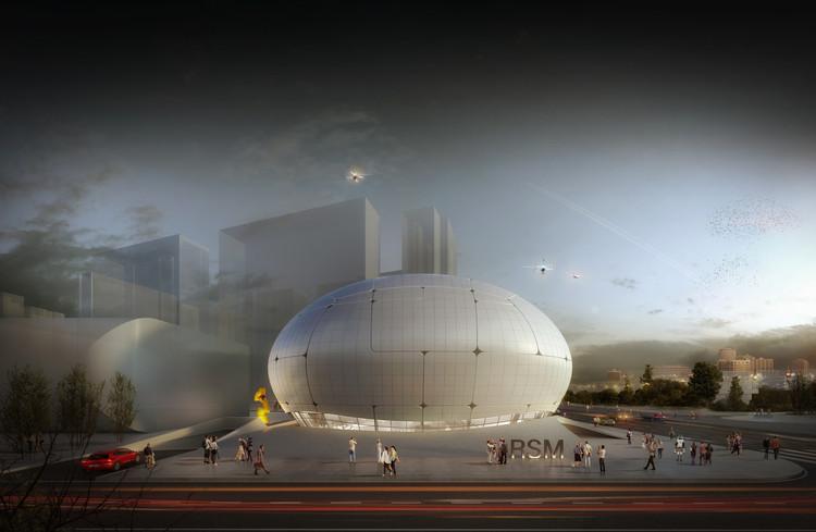 Robots will Construct Melike Altınışık' Robot Museum in Seoul, © Melike Altınışık Architects