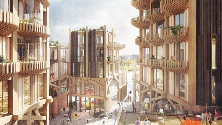Snøhetta and Heatherwick Design a Timber City for Sidewalk Labs , Quayside. Image Courtesy of Heatherwick Studio