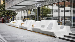 White Arkitekter Transforms a Swedish Square with 65 Meter Bench