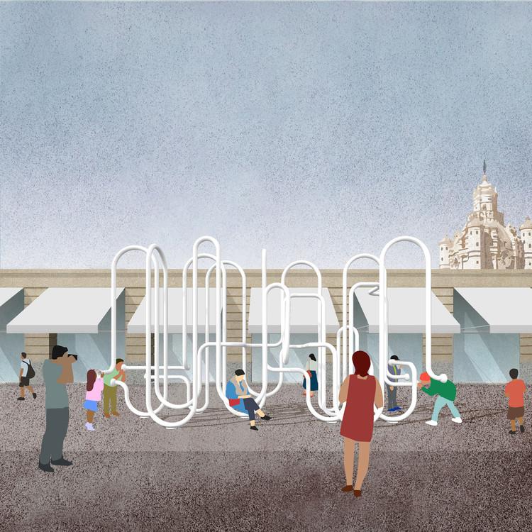 Conoce el proyecto ganador para el Hito Histórico del Congreso Internacional de Lengua Española en Córdoba, Perspectiva. Image Cortesía de Arquitectos Rodrigo Schiavoni y Adán Yenerich