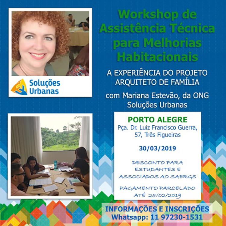 Workshop de Assistência Técnica em Melhorias Habitacionais - Porto Alegre