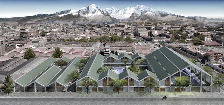 Un proyecto ganador (y descalificado) para el Catálogo de Escuelas Modulares en la Sierra del Perú, Vista_Panorámica. Image Cortesía de leonmarcial + Ghezzi Novak