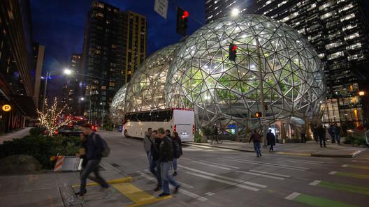 The Amazon Headquarters in Seattle, WA. Photo by Flickr user Evan Chakroff. ImageAmazon HQ / NBBJ