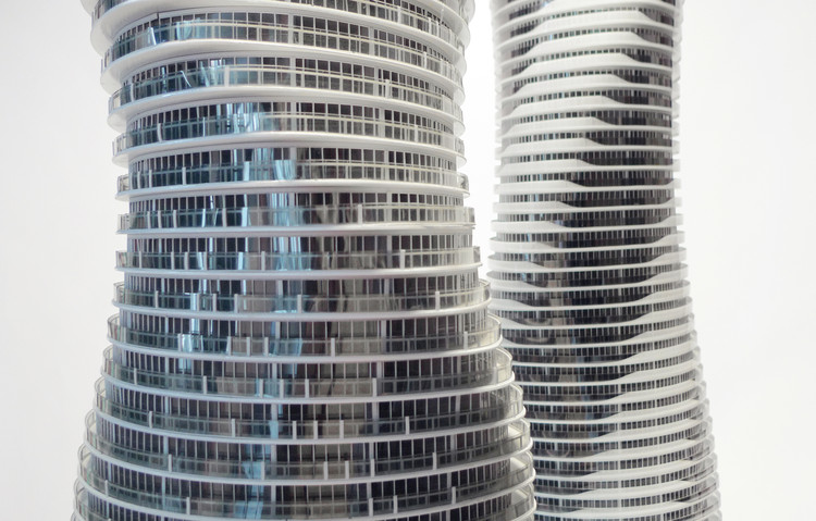 Centre Pompidou Acquires 12 Architectural Models by MAD Architects, Absolute Towers. Image © Fang Zhenning