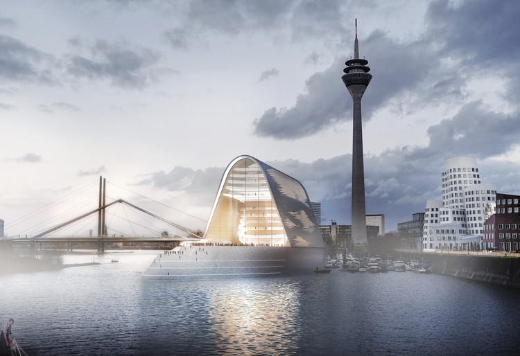 RKW Architektur + Designs Light-Flooded Opera House on the Rhine River in Dusseldorf, © Anton Kolev, formtool