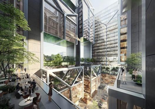 Goldsun HQ. Image Courtesy of Foster + Partners