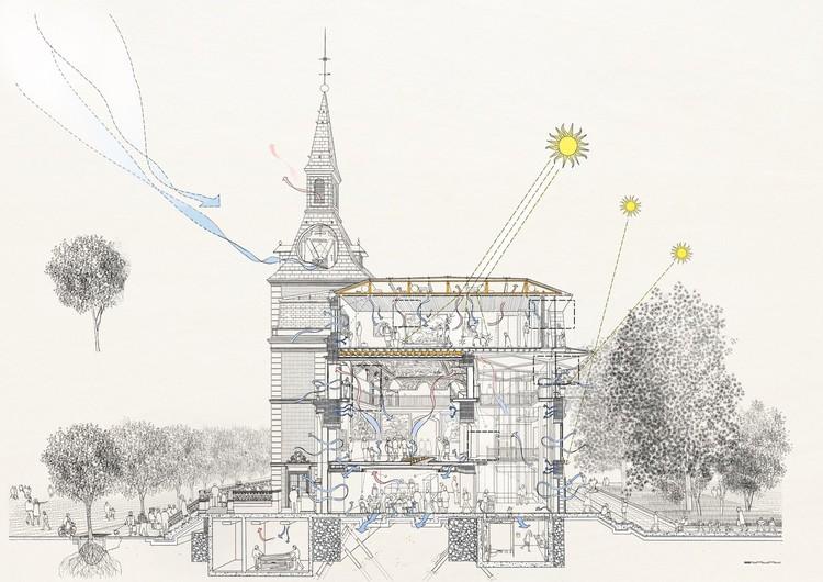 El diseño a mano de los ganadores del Pritzker, © Foster + Partners