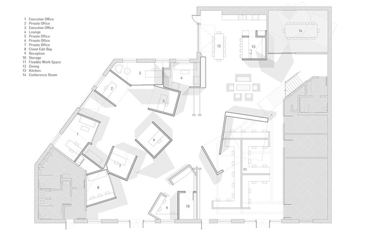 Offices And Workplaces Examples In Plan Archdaily