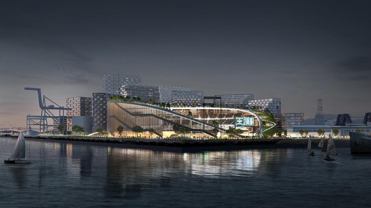 BIG, Gensler, and Field Operations Revise Plans for Oakland Athletics Stadium, © Bjarke Ingels Group via mlb.com