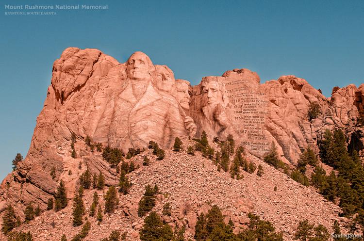 Five U.S. Monuments that were Never Built, Mount Rushmore National Memorial -Keystone, South Dakota. Image © CashNetUSA via NeoMam Studios