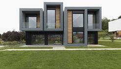Complejo Residencial: Tres Viviendas + Pabellón Usos Múltiples / longo+roldán