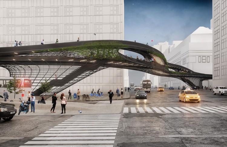 DXA Studio Designs New Urban Pathway for New York, The Midtown Viaduct. Image Courtesy of DXA studio