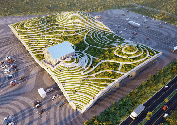 Construction of MVRDV's Landscaped Food Market Begins in Taiwan, The Tainan Xinhua Fruit and Vegetable Market elevates a prosaic part of the supply chain into a place for the public to experience food . Image © MVRDV