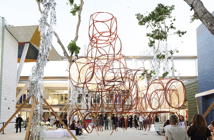 Yona Friedman's First U.S. Public Project Comes to Miami, Space-Chain Phantasy-Miami 2019 Prototype. Image Courtesy of MDD & ICA