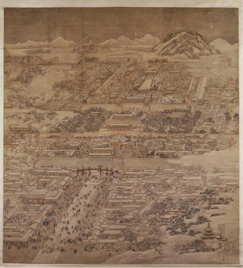 Image Courtesy of Martijn de Geus. Fig.8 - Qing Dynasty - by Xu Yang - Springtime in the Capital