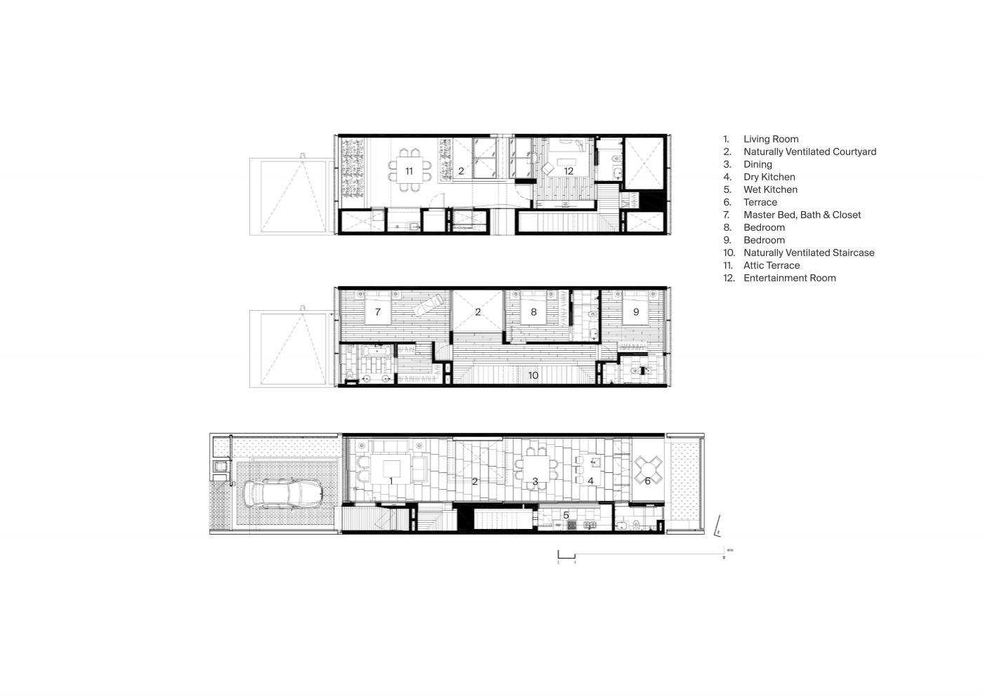 Gallery Of A Simple Terrace House Pencil Office 28
